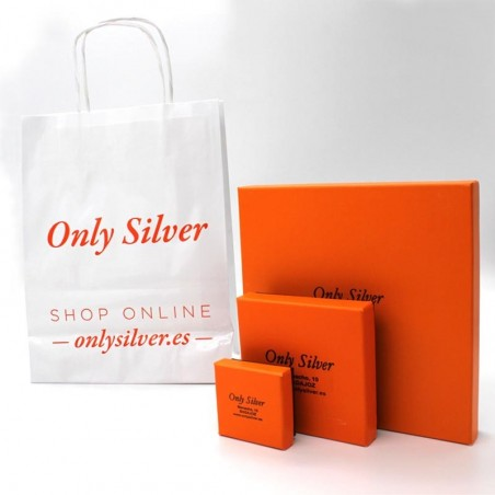 Cajas de presentación en las que se entregará el colgante. Only Silver garantía de calidad