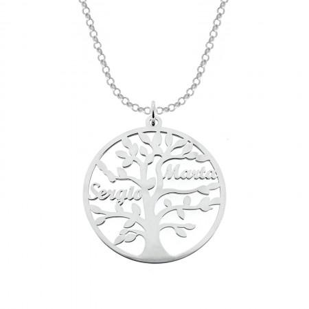 Nuestro colgante con el árbol de la vida personalizable. Puede ser personalizarlo con hasta 9 nombres.