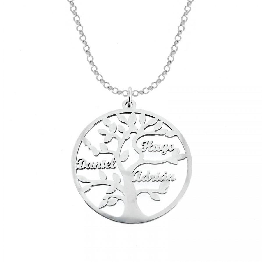 Colgante árbol de la vida en plata de only silver